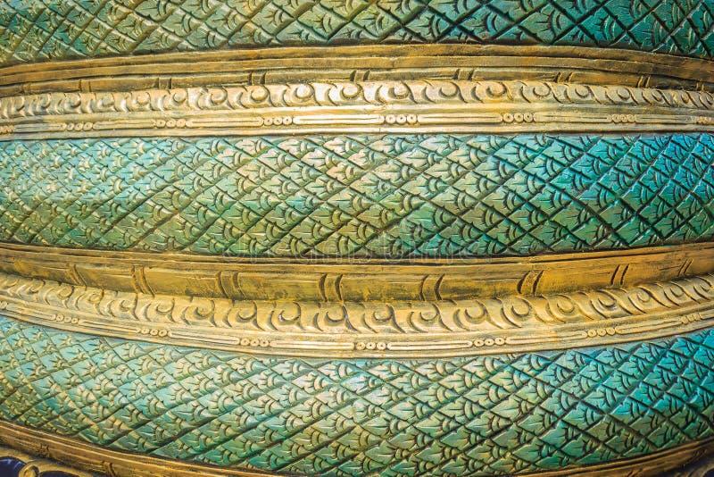 Grungy zielony stiuku wzór wąż waży dla tła Na obrazy stock