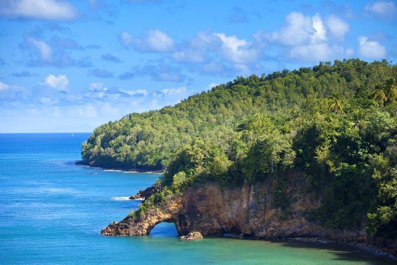 Gruntowy most na st Lucia fotografia stock