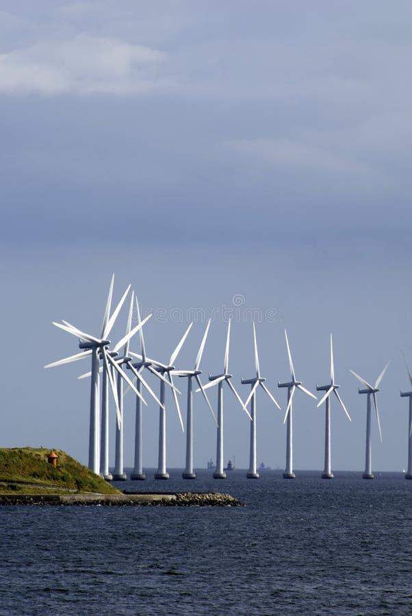 grunty turbiny pionowe wiatr fotografia royalty free