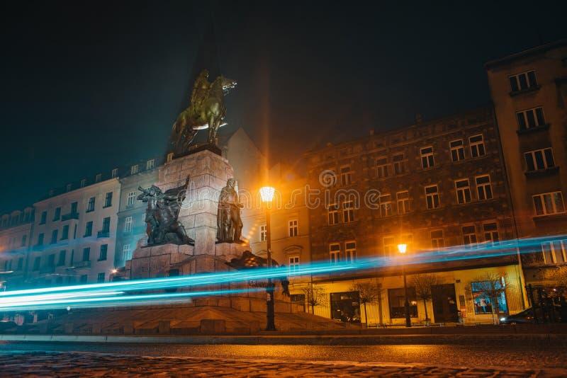 Grunwald-Monument in Krakau, Polen lizenzfreies stockbild