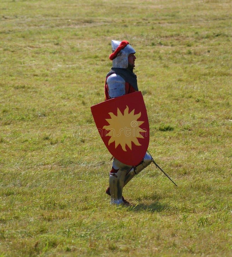 Grunwald, Polonia - 2009-07-18: Cavaliere di Sun immagini stock