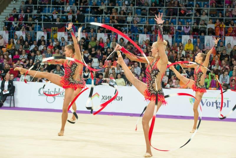 Grup ćwiczenia drużyna Finlandia zdjęcia stock