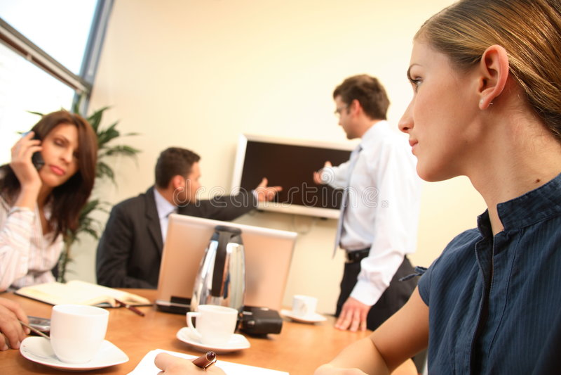 grup biznesowych pracy ludzi biurowe kobiety obraz royalty free