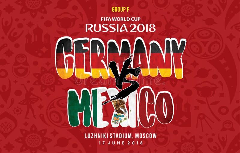 Grup f Германия против Мексики России 2018 иллюстрация штока