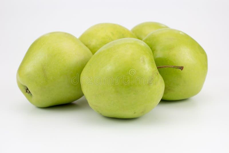 Grupa świezi zdrowi jabłka obrazy stock
