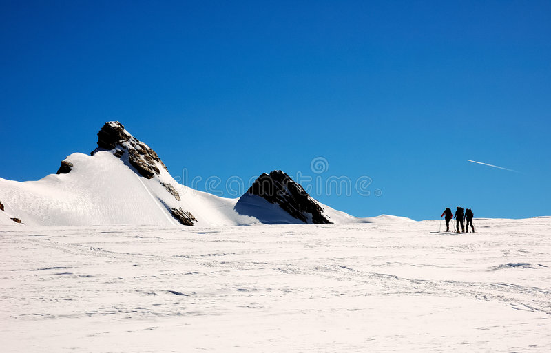 grupa alpiniści zdjęcie stock