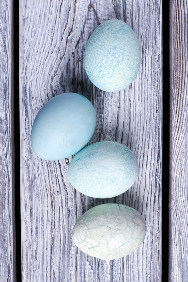 Grupa błękitni jajka zdjęcie stock