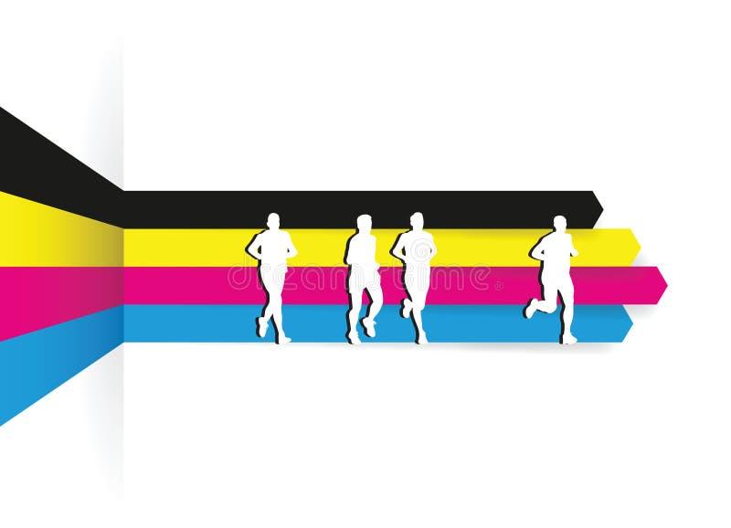 Grupa biegacze ilustracji