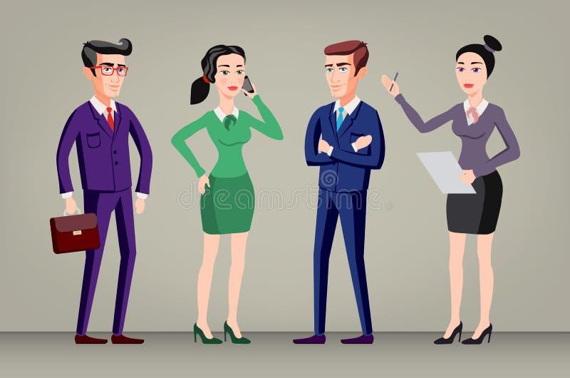 Grupa biznesowa dyrektora naczelny szef Firma personelu wektor ilustracji