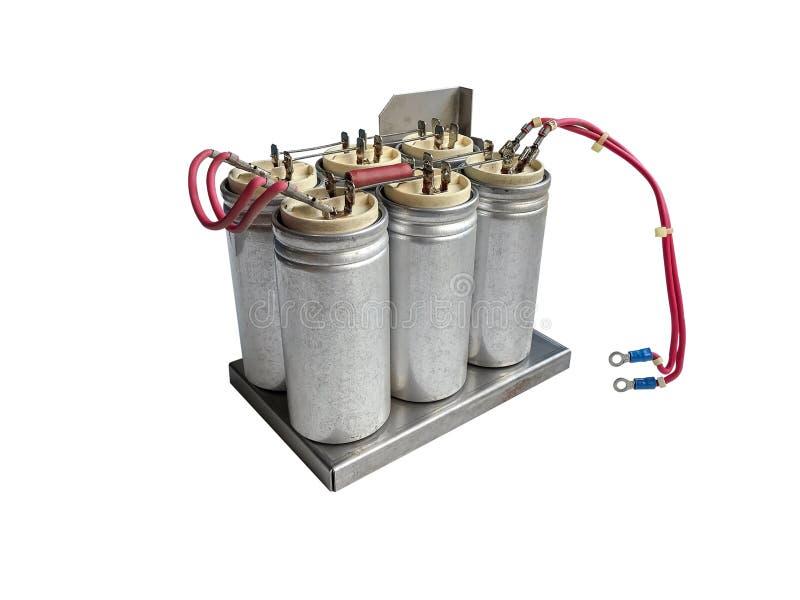 Grupa capacitors fotografia stock