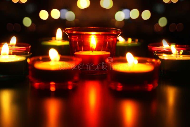 Grupa dekoracyjne indianina Diwali lampy obrazy stock