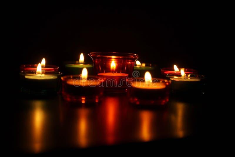 Grupa dekoracyjne indianina Diwali lampy zdjęcia royalty free