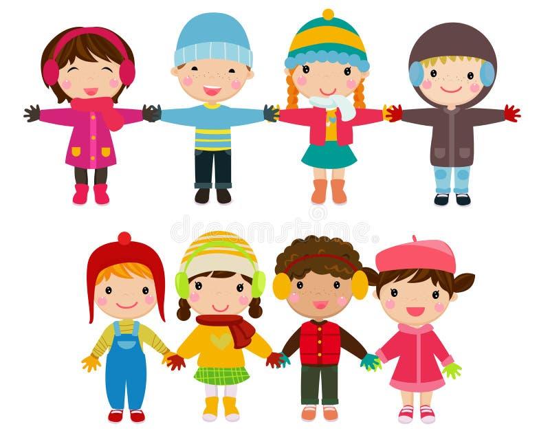 Grupa dzieci ilustracji