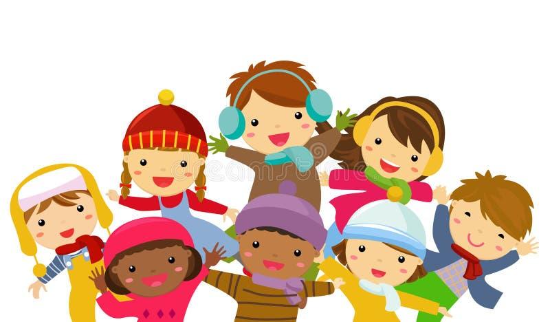 Grupa dzieci ilustracja wektor