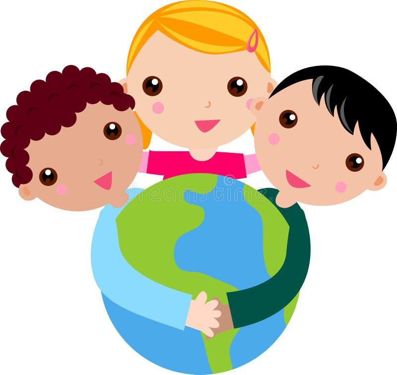 Grupa dzieci royalty ilustracja