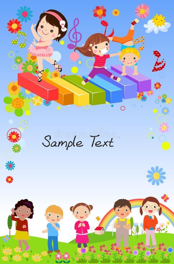 Download Grupa dzieci grają ilustracja wektor. Ilustracja złożonej z arte - 57662549