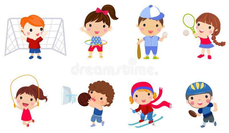 Grupa dzieci inkasowi ilustracji