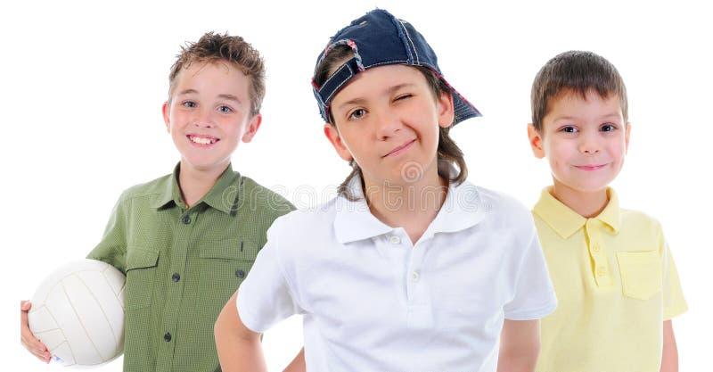 Grupa dzieci pozować obrazy stock