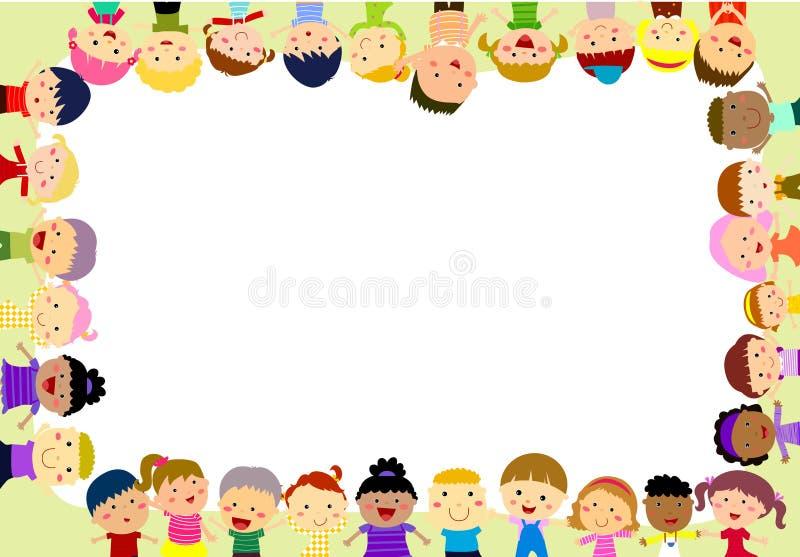Download Grupa dzieciak rama ilustracja wektor. Ilustracja złożonej z dekoracje - 57660877