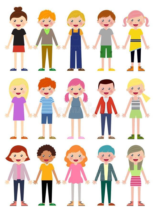Download Grupa dzieciaka set ilustracja wektor. Ilustracja złożonej z charaktery - 57662794