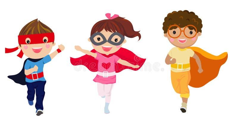 Grupa dziecko bohater ilustracja wektor