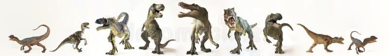 Grupa Dziewięć dinosaurów z rzędu ilustracji