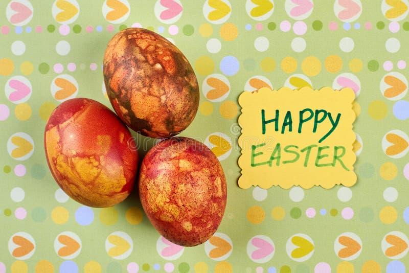 Grupa farbujący jajka zdjęcia royalty free