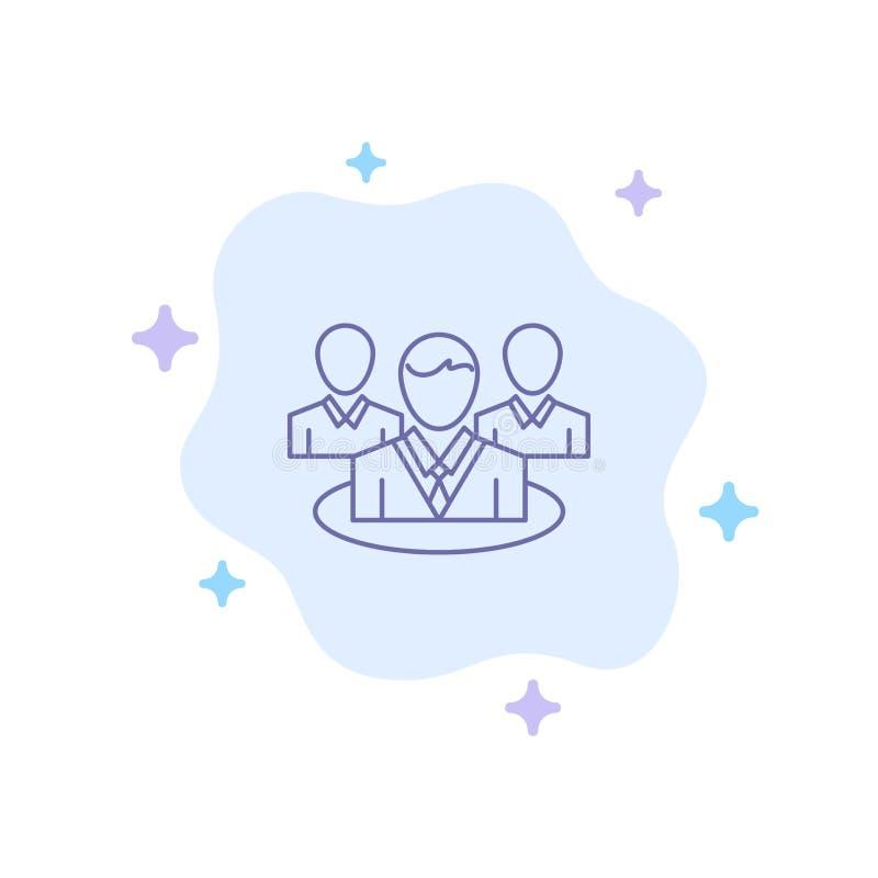 Grupa, gadka, plotka, rozmowy Błękitna ikona na abstrakt chmury tle royalty ilustracja