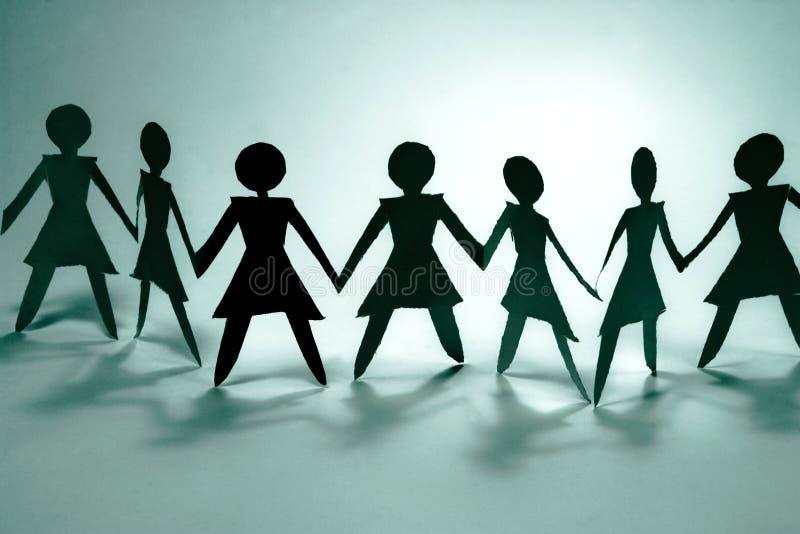 grupa i kobieta niebieski ilustracji