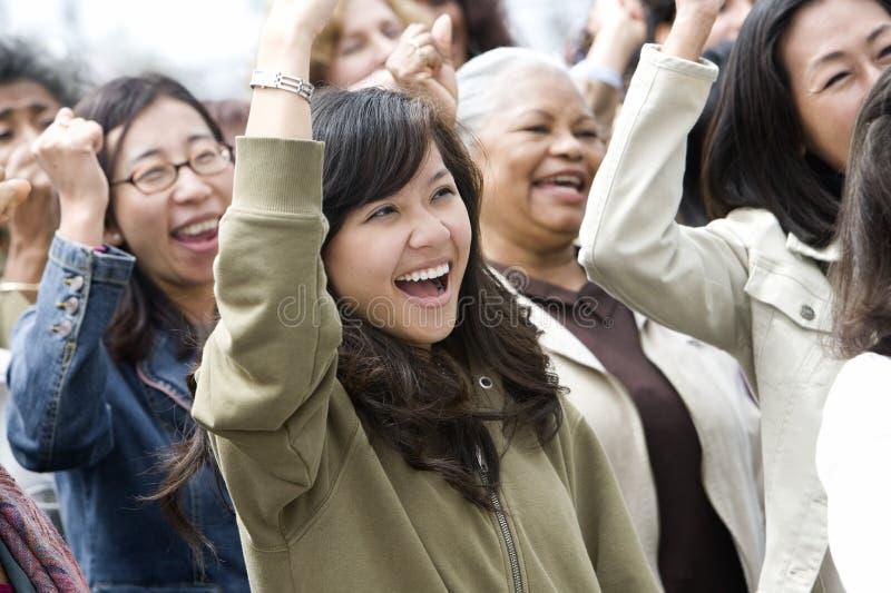 Grupa kobiety W wiecu zdjęcie stock