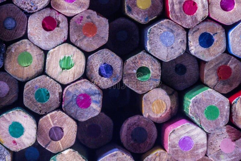 Grupa kolorów ołówków tło zdjęcia stock