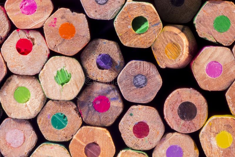 Grupa kolorów ołówków tło obraz royalty free