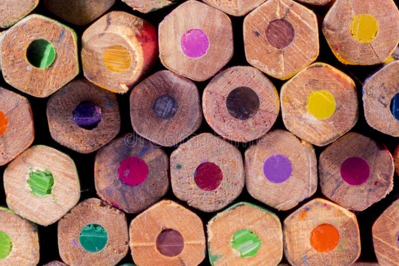 Grupa kolorów ołówków tło fotografia royalty free