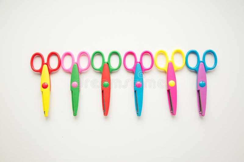 Grupa kolorowi nożyce obraz royalty free