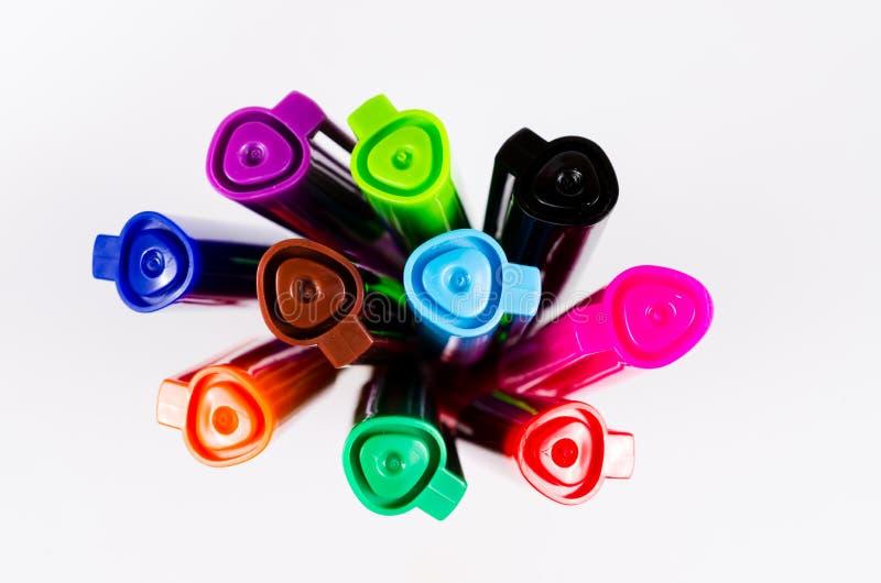 Download Grupa kolorowy pióro obraz stock. Obraz złożonej z greenbacks - 53788303