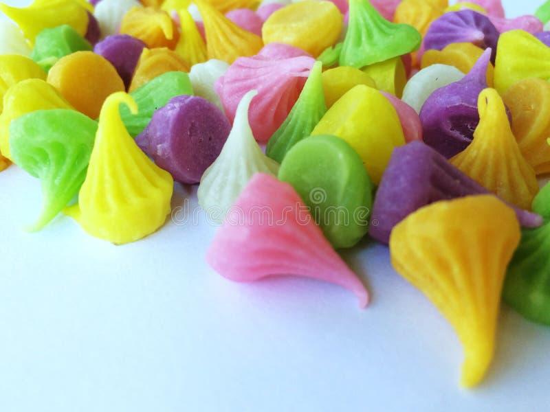 Grupa kolorowy Tajlandzki słodki cukierek wymieniał 'A-Lou' zdjęcie stock
