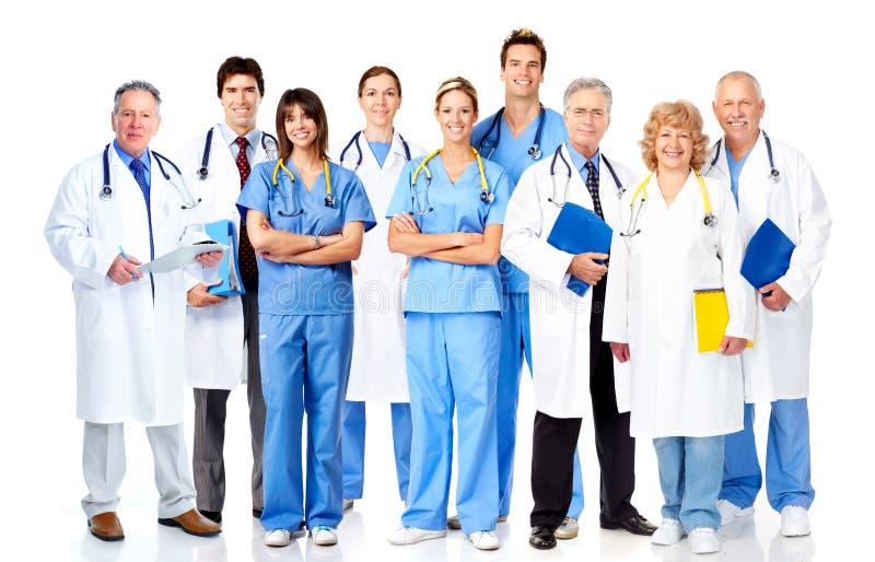 Grupa lekarzi medycyny. zdjęcia royalty free