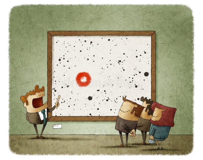 Grupa ludzi przyglądający obrazek royalty ilustracja