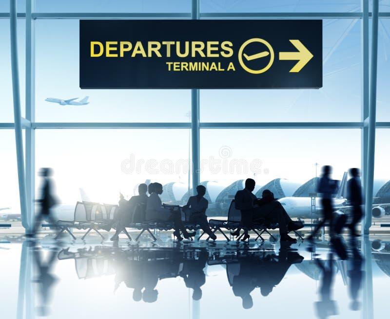 Grupa Ludzi w lotnisku zdjęcie royalty free