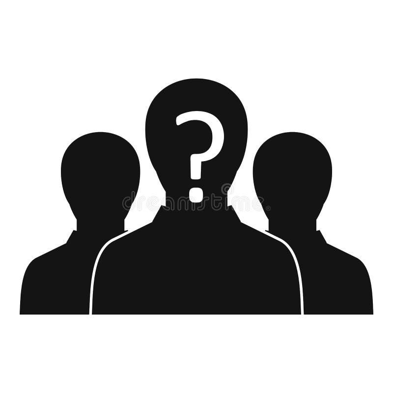 Grupa ludzi z niewiadomą osobowości ikoną royalty ilustracja