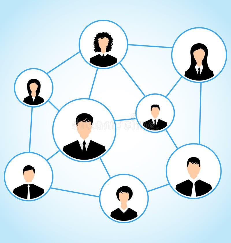 Grupa ludzie biznesu, ogólnospołeczny związek royalty ilustracja
