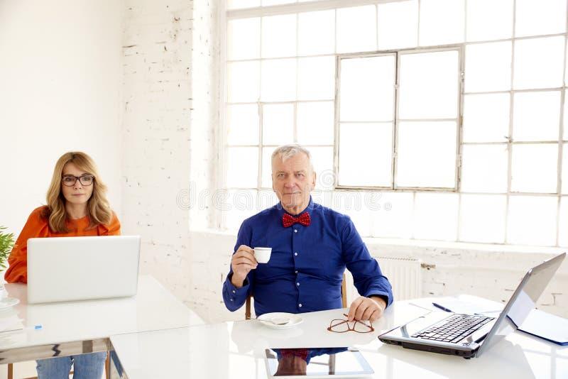 Grupa ludzie biznesu pracuje na laptopach w biurze zdjęcia royalty free
