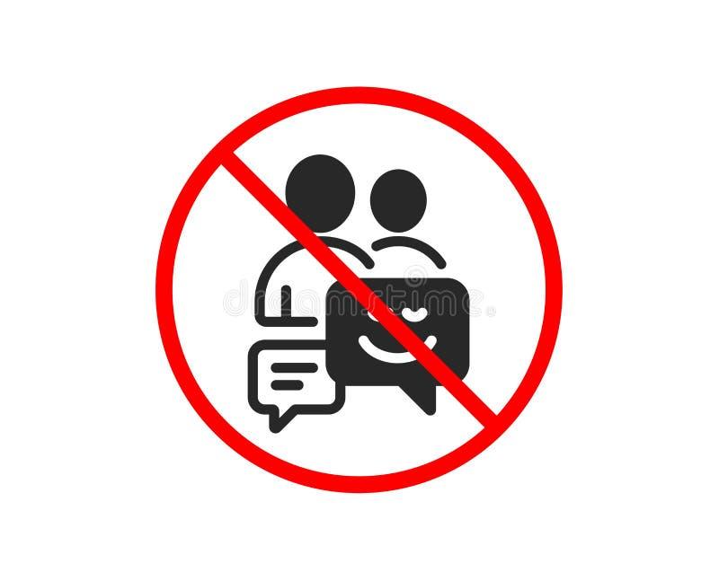 Grupa mężczyzna ikona Komunikacja znak wektor royalty ilustracja