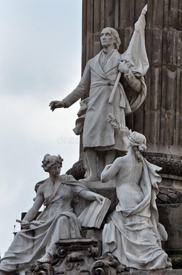 Grupa marmurowe statuy niektóre bohaterzy wojna o niepodległość obraz royalty free