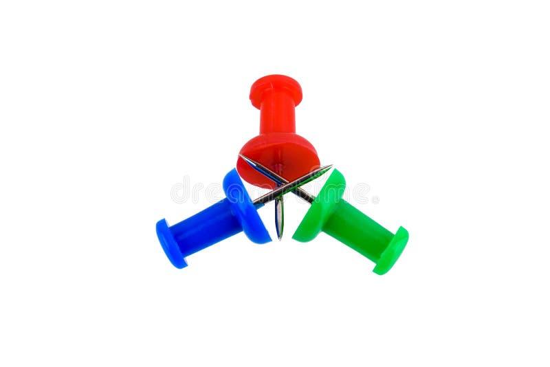 Grupa pchnięcie szpilki w RGB rewolucjonistce, zieleń, błękit barwi zdjęcia royalty free