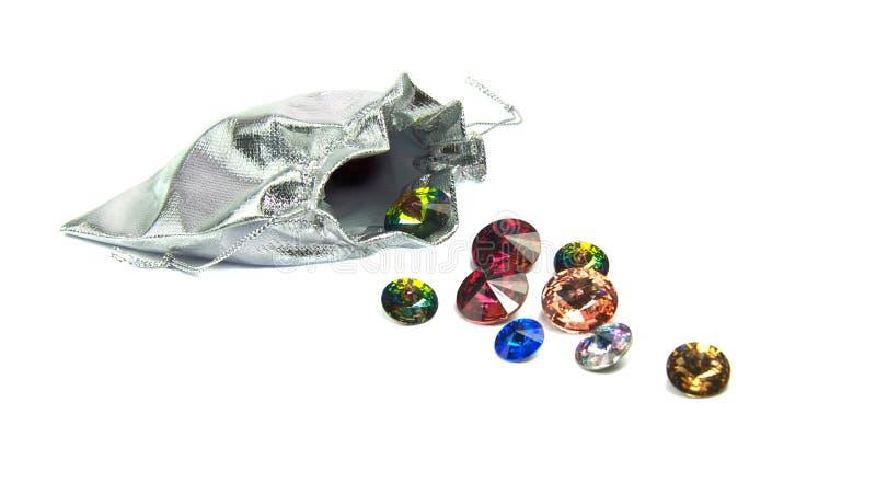 Grupa piękni błyszczący kryształy obrazy royalty free