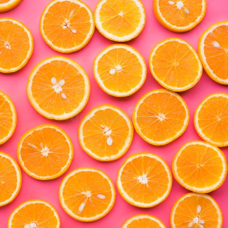 Grupa Pomarańczowy plasterek owoc i lata pojęcie zdjęcie royalty free