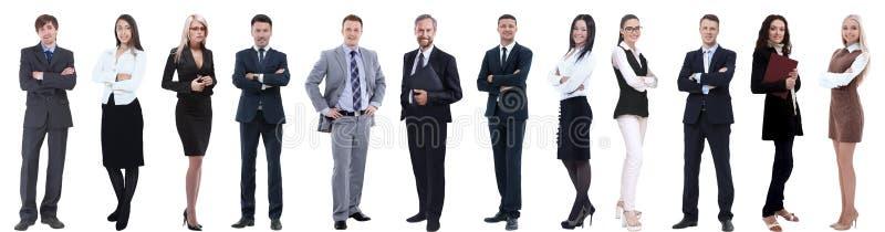 Grupa pomy?lni ludzie biznesu odizolowywaj?cy na bielu fotografia royalty free