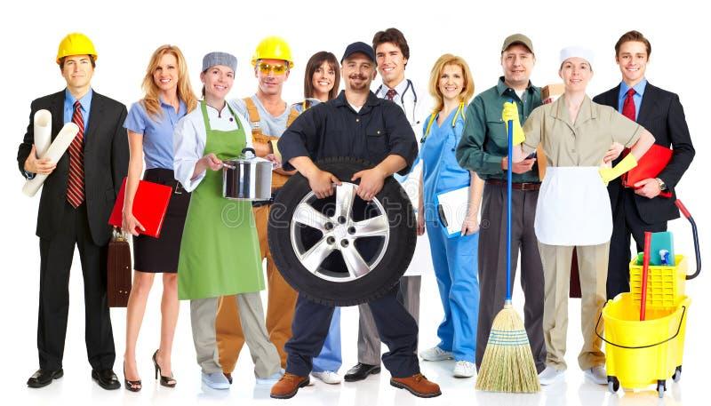 Grupa pracowników ludzie zdjęcie royalty free