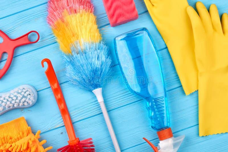 Grupa przedmioty dla domowego cleaning zdjęcie royalty free
